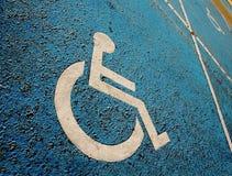 handikappad parkeringsplats Fotografering för Bildbyråer