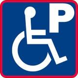 Handikappad parkeringsteckenillustration Royaltyfria Bilder
