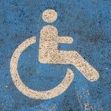 Handikappad personlogo Royaltyfria Bilder