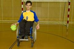 handikappad personsportrullstol Arkivfoto
