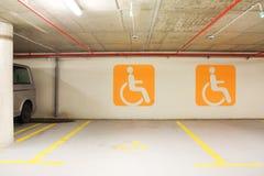 Handikapparkenplatz Stockfoto