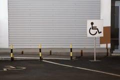 Handikappat parkera undertecknar Royaltyfria Bilder