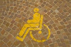 handikappat parkeringsfolk Arkivbilder