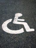 Handikappat parkeringstecken 47 Royaltyfri Bild