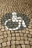 Handikappat - rörelsehindrat parkeringstecken 60 Royaltyfri Bild