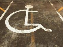 Handikappat symbol för vit Arkivfoton