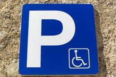 handikappat tecken Arkivfoton