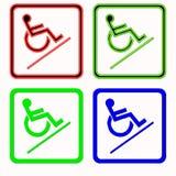 handikappat tecken Royaltyfria Bilder