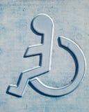 Handikappat tecken 76 Arkivbilder