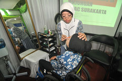 Handikappexpo i Indonesien Royaltyfria Foton