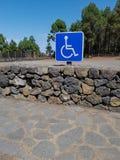 Handikappparkering Arkivbild
