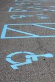 handikappparkering Arkivfoto