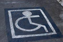 Handikappparkering Royaltyfri Foto
