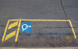 Handikappparkering Arkivfoton