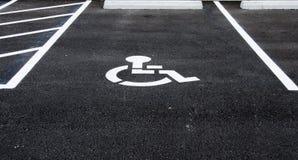 Handikappparkeringsplats Royaltyfri Fotografi