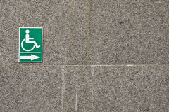 handikappsymbol Arkivfoton