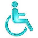 Handikappsymbol Arkivfoto