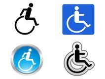 Handikappsymbol Fotografering för Bildbyråer