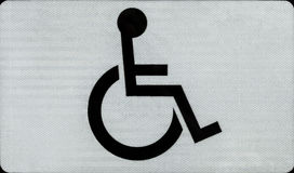 Handikappsymbol Royaltyfria Foton