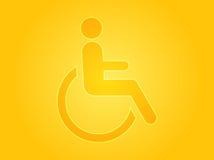 handikappsymbol Royaltyfri Bild