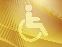 handikappsymbol Royaltyfria Bilder