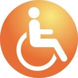 handikappsymbol Arkivbild