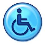 handikappsymbolsrengöringsduk Royaltyfria Foton