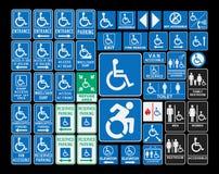 Handikapptecken vektor illustrationer
