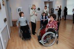 handikapputställningfolk Fotografering för Bildbyråer