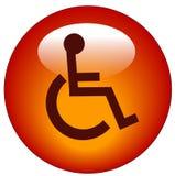 Handikapweb-Ikone Lizenzfreie Stockbilder