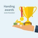 Handing awards concept. Royalty Free Stock Photos