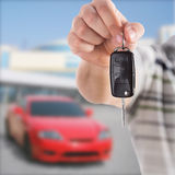 Handing car key Royalty Free Stock Photography