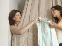 Handing on Clothes Stock Image