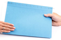 Handing File Folder Royalty Free Stock Photo