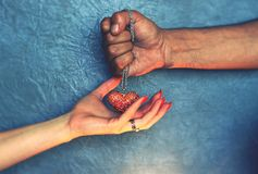Handing heart Royalty Free Stock Image