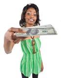 Handing money Royalty Free Stock Photography