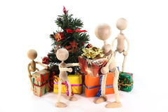 Handing out of presents Royalty Free Stock Photos