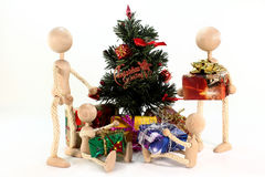 Handing out of presents Stock Images