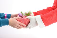 Handing out of presents Royalty Free Stock Photography