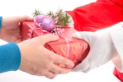 Handing out of presents Royalty Free Stock Image