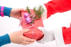 Handing out of presents Stock Photo
