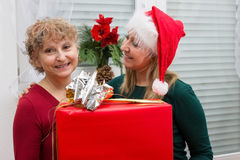 Handing out of presents Stock Photos