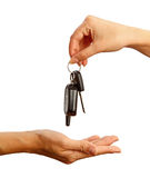 Handing over car key Royalty Free Stock Photo