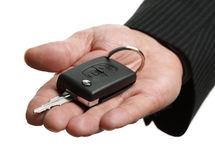 Handing over a car key Stock Photography