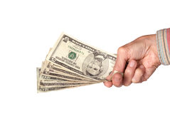 Handing over cash Royalty Free Stock Photography