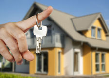 Handing over the house keys Stock Image