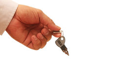 Handing Over The Key Royalty Free Stock Image