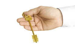 Handing over the key Royalty Free Stock Photo