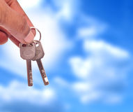 Handing over the keys Royalty Free Stock Image
