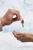 Handing Over the Keys stock photography